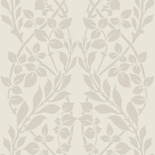 Beige/Iridescent Gold/White Botanical Wallcovering by York