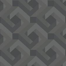 Black/Gray Geometrics Wallcovering by York