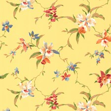 Yellow Tropical Wallcovering by York