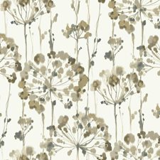 White/Taupe/Teal Floral Wallcovering by York
