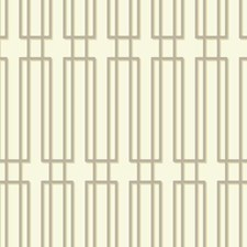 Pearl/Beige/Metallic Silver Geometrics Wallcovering by York