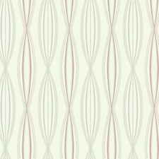 Cream/Light Blue/Pink Geometrics Wallcovering by York
