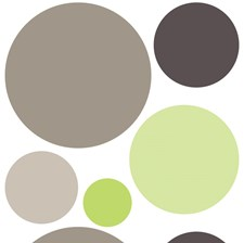 CR-81120 Green Dots Wall Decals by Brewster
