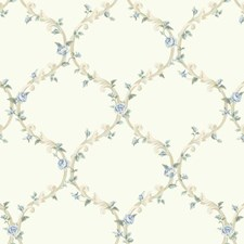 White/Beige/Pale Grey Floral Wallcovering by York