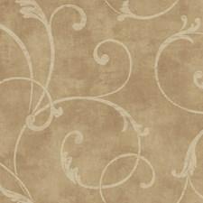 Mottled Gold Sheen/Eggshell Botanical Wallcovering by York