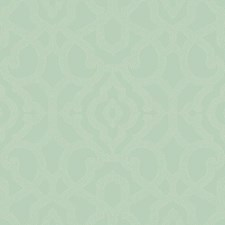 Soft Grey/Blue/White Damask Wallcovering by York