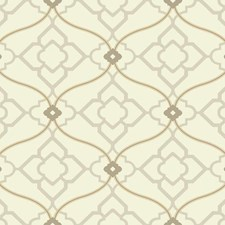 Soft Golden Beige/Grey/Tan Bohemian Wallcovering by York