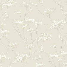 D Hint Of Gold/Cork Tan/Whipped Cream Botanical Wallcovering by York