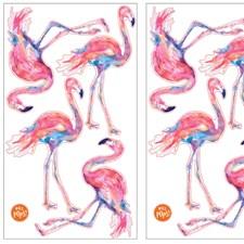 DWPK2173 Pink Flamingo Applique Kit by Brewster