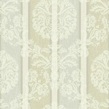 Light Grey/Beige/Light Taupe Damask Wallcovering by York
