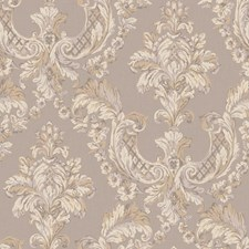 Silver/Cream/Pale Lavender Damask Wallcovering by York