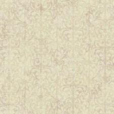 Metallic Pink/Cream/Beige Scroll Wallcovering by York