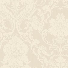 Palest Pink/Cream Damask Wallcovering by York