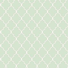 Icy Blue/Rich Cream/Sterling Silver Geometrics Wallcovering by York