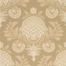 Coffee/Cream Damask Wallcovering by Mulberry Home