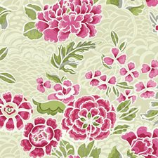 Beige Satin/Tan/Red Floral Wallcovering by York