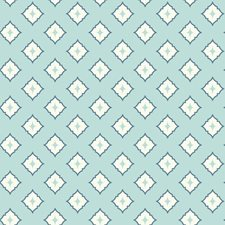 Light Blue/White/Medium Blue Geometrics Wallcovering by York
