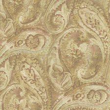 Russet/Beige/Pink Paisley Wallcovering by York