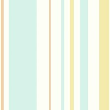 Aqua/White/Orange Children Wallcovering by York