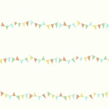 Orange/Yellow/Aqua Children Wallcovering by York