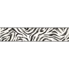 Off-white/Black/Grey Sure Strip Wallcovering by York