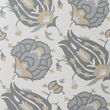 Dove/Stone Damask Wallcovering by Groundworks