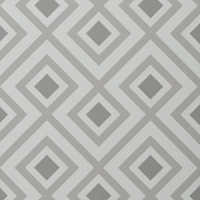 Dove Grey Geometric Wallcovering by Groundworks