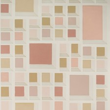 Blush/Ivory Modern Wallcovering by Groundworks