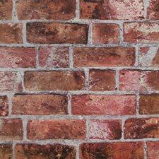 Brick Red/Cement Gray/Burgundy Bricks Wallcovering by York