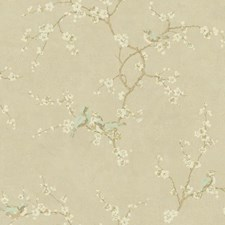 Soft Gold/Gold/Light Grey Animals Wallcovering by York