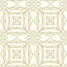 White/Golden Tan Bohemian Wallcovering by York