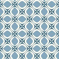 Dark Blue/Medium Blue/White Bohemian Wallcovering by York