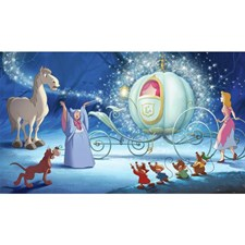 JL1374M Disney Cinderella Carriage XL Mural by York