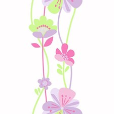Lilac/Lavender/Bubble Gum Children Wallcovering by York