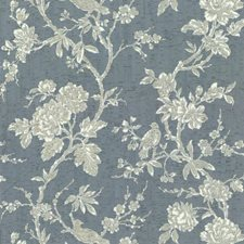 Blues/Beiges Floral Wallcovering by York