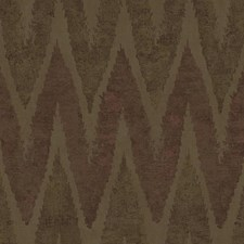 Taupe/Brown/Metallic Copper Chevron Wallcovering by York