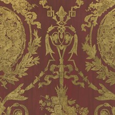 Balmoral Red Wallcovering by Ralph Lauren Wallpaper