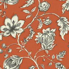 Orange/Brown/Off-white Bohemian Wallcovering by York