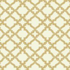 Cream/Gold Geometrics Wallcovering by York