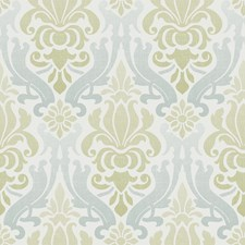 NU1656 Blue and Green Nouveau Damask Peel & Stick by Brewster
