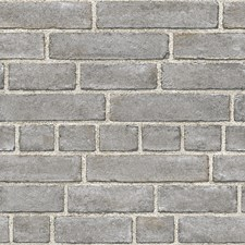 NU2236 Grey Brick Façade Peel & Stick by Brewster