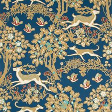 Navy Animal Wallcovering by Lee Jofa Wallpaper