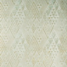 Aqua/Gold Diamond Wallcovering by Lee Jofa Wallpaper
