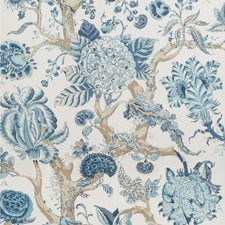 Indigo Botanical Wallcovering by Lee Jofa Wallpaper