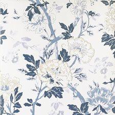 Denim Botanical Wallcovering by Lee Jofa Wallpaper
