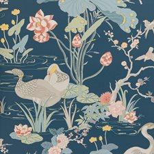 Sapphire Botanical Wallcovering by Lee Jofa Wallpaper