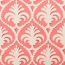 Coral Toile Wallcovering by Brunschwig & Fils