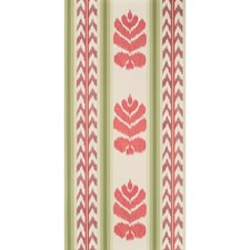 Coral/Plum Stripes Wallcovering by Brunschwig & Fils