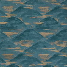 Teal Modern Wallcovering by Brunschwig & Fils