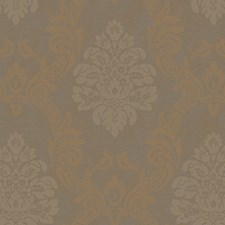 Deep Fawn/Bronze Pearled Metallic/Deep Grayed Taupe Damask Wallcovering by York